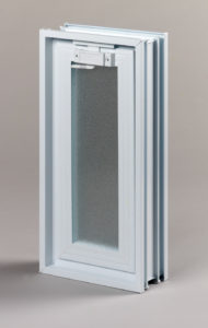 Went 1x2 okno wentylacyjne do pustaków szklanych i luksferów zamknięte