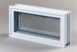 Went 2x1 okno wentylacyjne do pustaków szklanych i luksferów tył