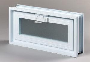 Went 2x1 okno wentylacyjne do pustaków szklanych i luksferów zamknięte