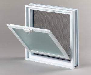 Went 2x2 okno wentylacyjne do pustaków szklanych i luksferów otwarte