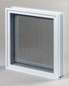 Went 2x2 okno wentylacyjne do pustaków szklanych i luksferów tył