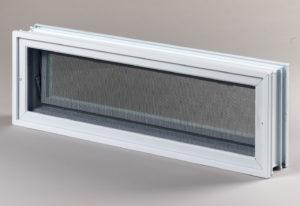 Went 3x1 okno wentylacyjne do pustaków szklanych i luksferów tył