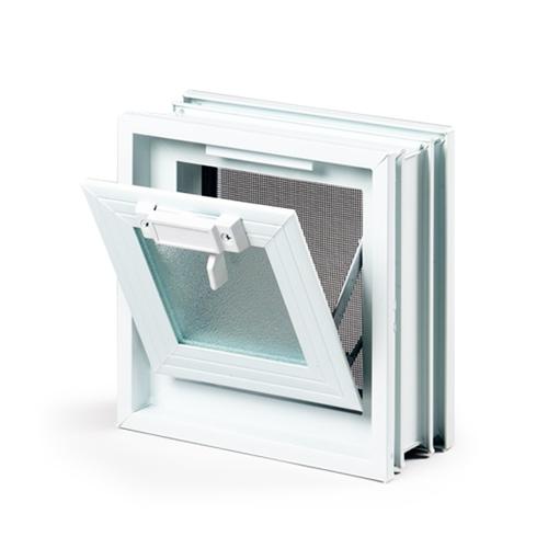 okienko wentylacyjne 1x1 do pustaków szklanych-1